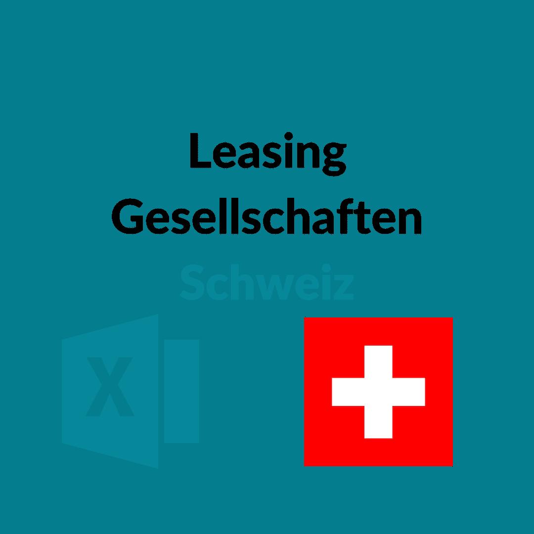 Liste Leasing Gesellschaften Schweiz