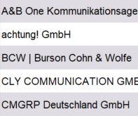 Vorschau größte PR-Beratungen Deutschland