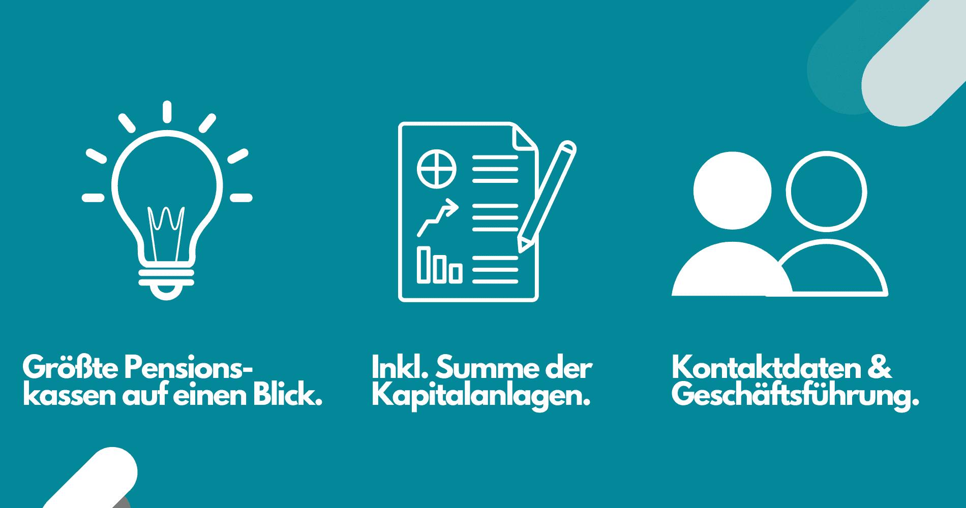 Daten Pensionskassen Deutschland Listenchampion
