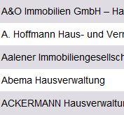 Datenbank Hausverwalter München