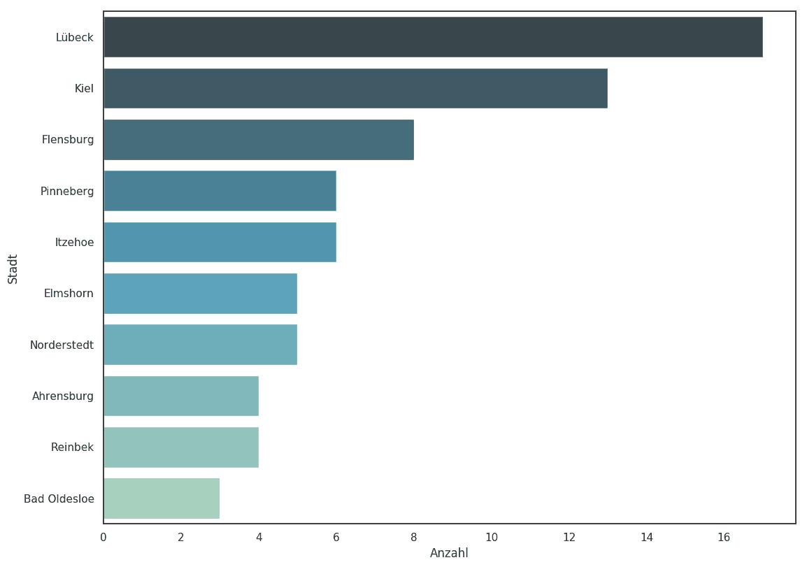 Städte größte Unternehmen Schleswig-Holstein