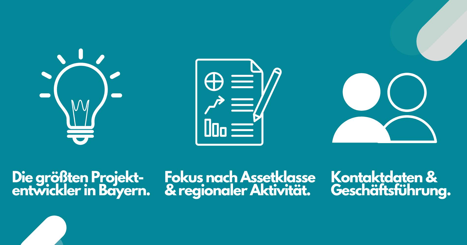 Daten Projektentwickler Bayern