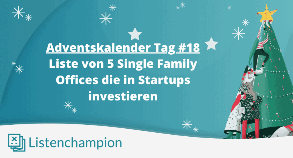 Startups Single Family Offices