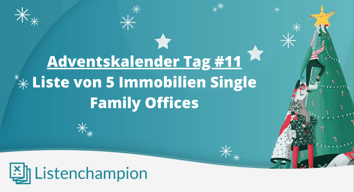 Liste von 5 Single Family Offices im Immobilienbereich