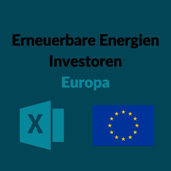 Liste der 100 größten Erneuerbare Energien Investoren Europa