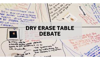 Dry erase table debate
