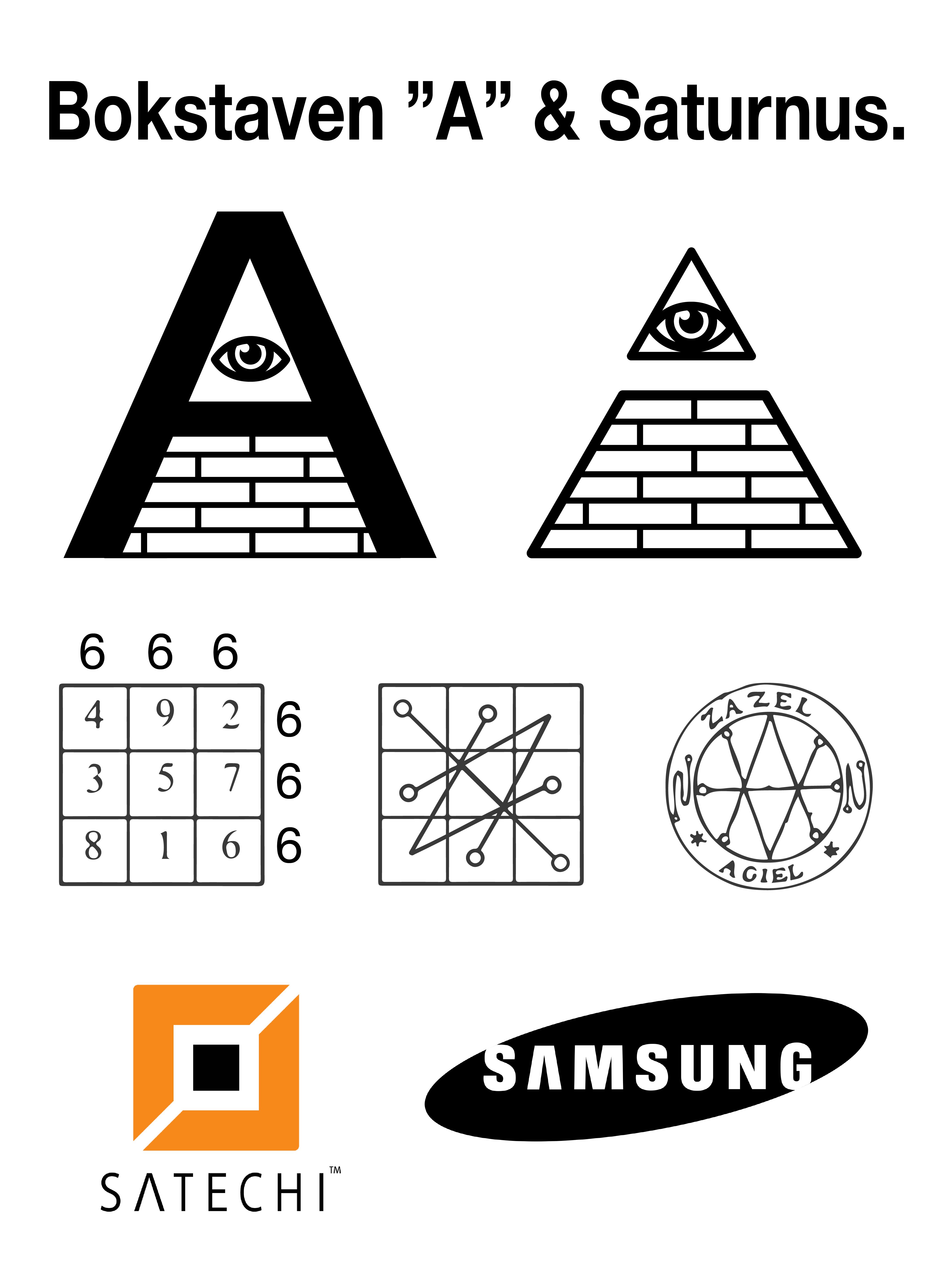 letter A & Saturnus symbolism