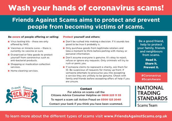 Beware of Covid scams!