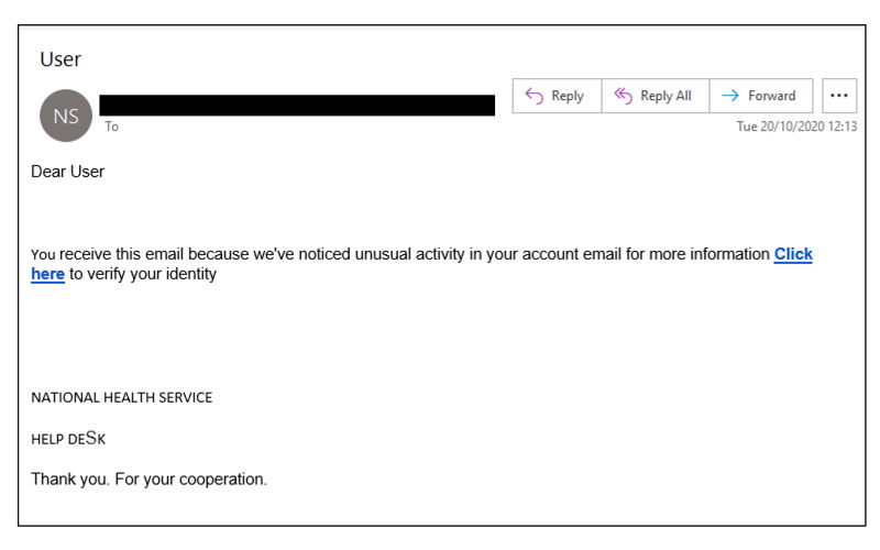 SCAM EMAIL WARNING!!