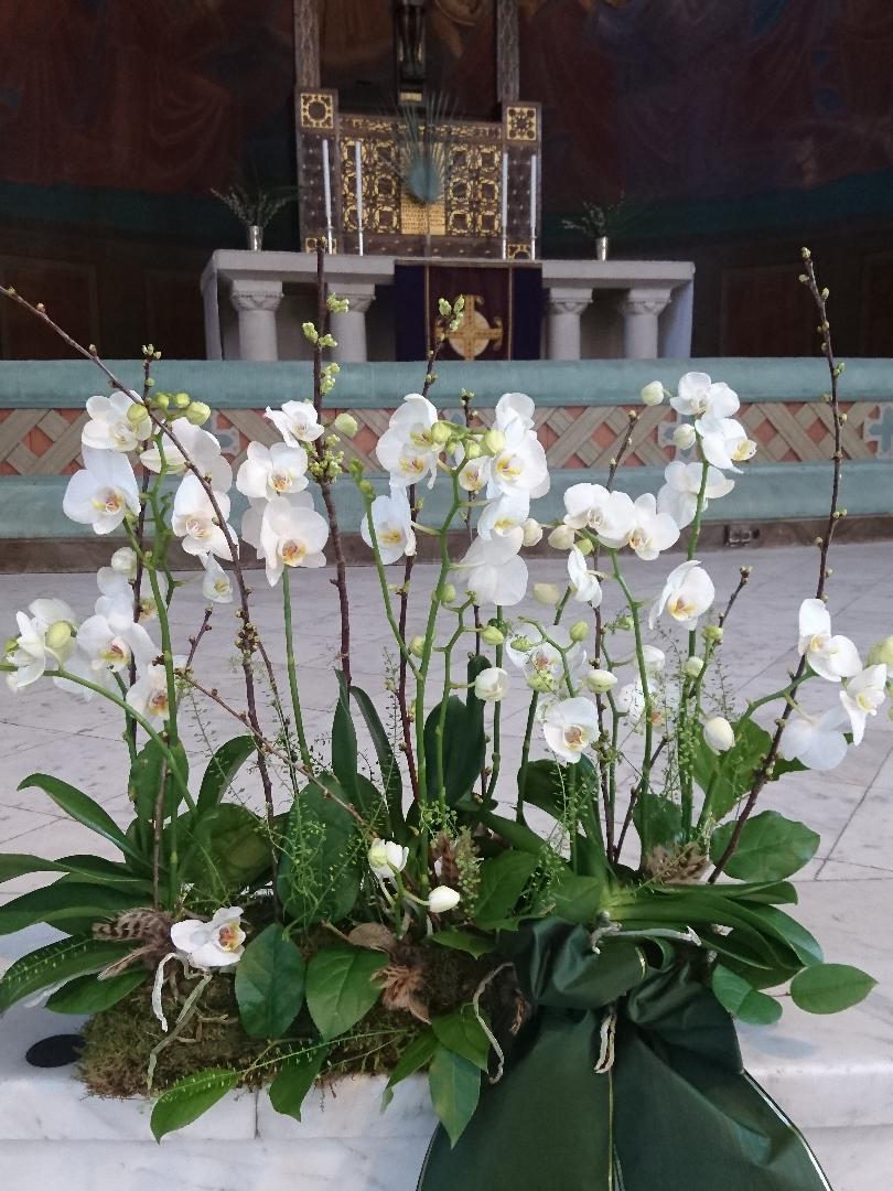 blomsterarrangemang vid begravning