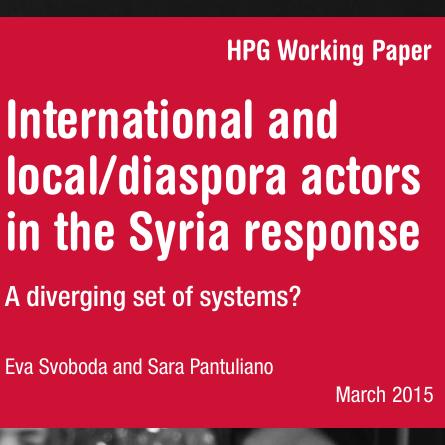 International and local/diaspora actors in the Syria response Image