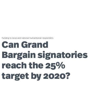 Can Grand Bargain signatories reach the 25% target by 2020? Image