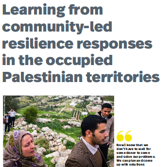 Learning from community-led resilience responses in the occupied Palestinian territories Image