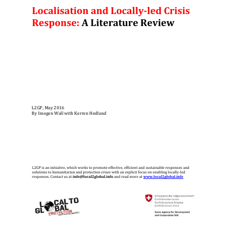 Localisation and Locally-led Crisis Response: A Literature Review Image