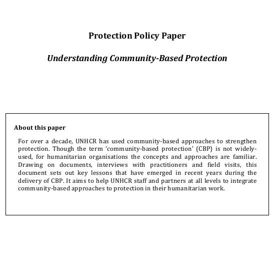 Understanding Community-Based Protection Image