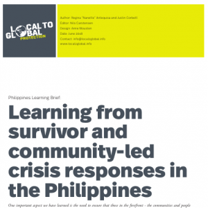 A one page presentation of the survivor and community-led crisis response (sclr)