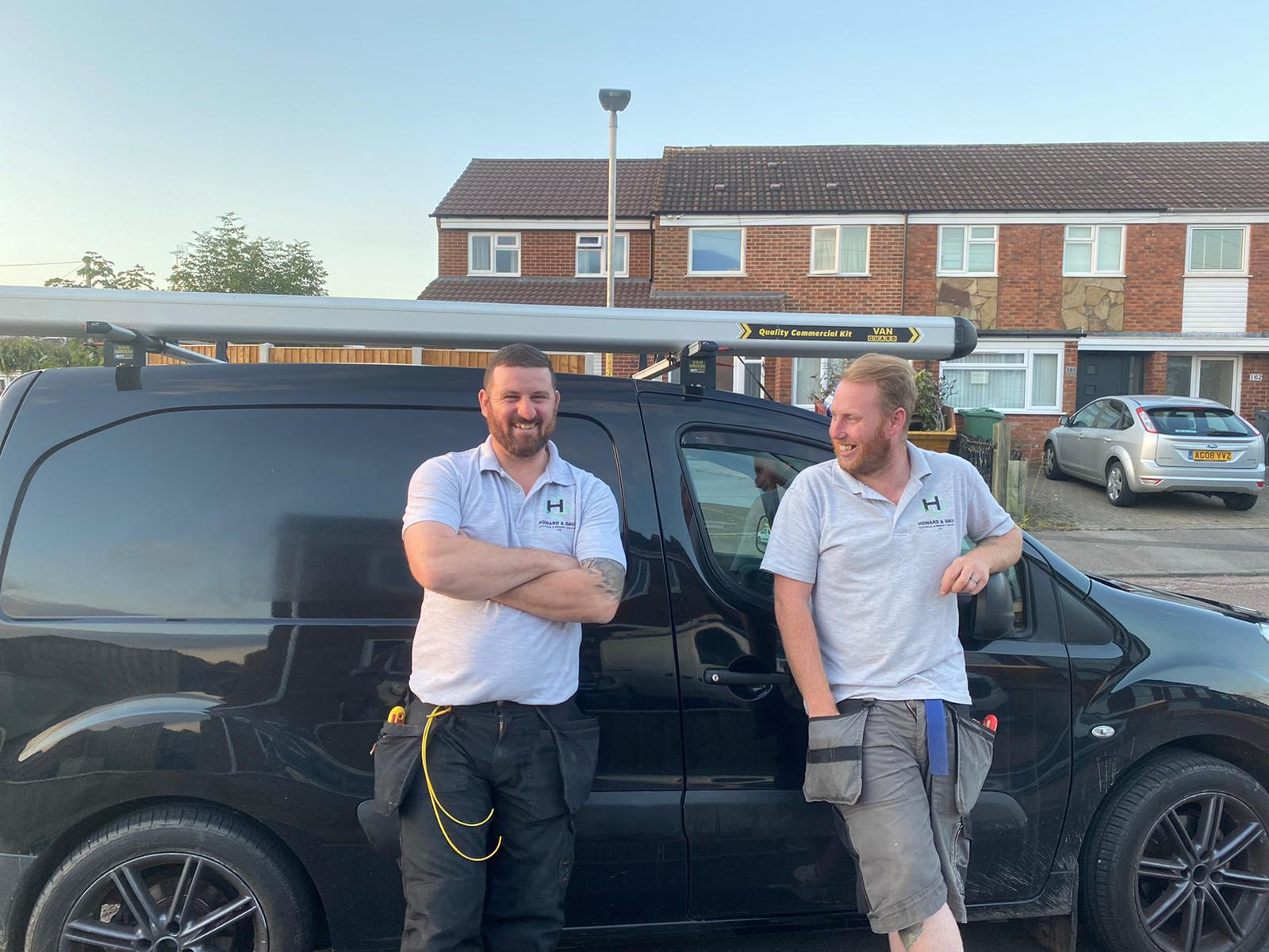 Darren Howard and Clint Davis - Local Electricians in Gloucestershire - local electrical company