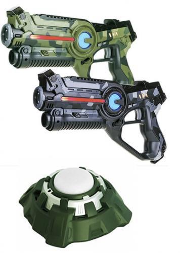 Pistolets et cibles de laser game