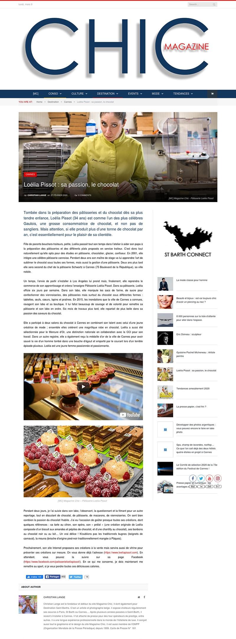 Loélia Pissot - Magazine Chic