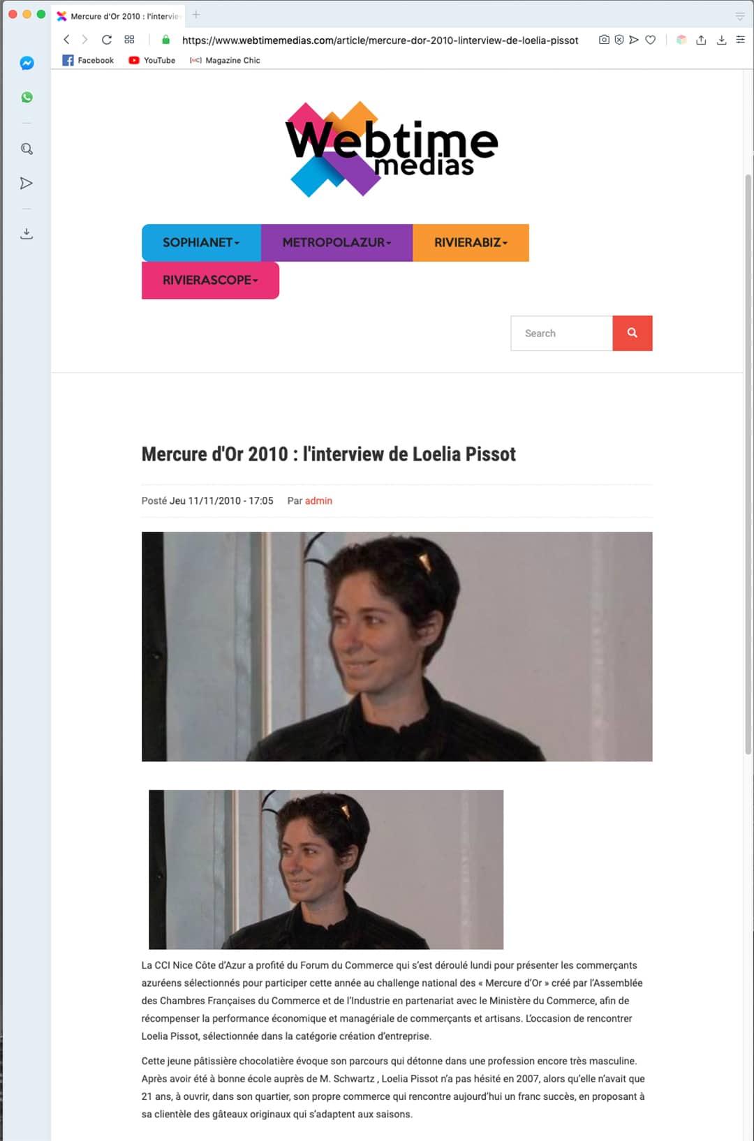 Loélia Pissot - WebTime Medias - 11 novembre 2010