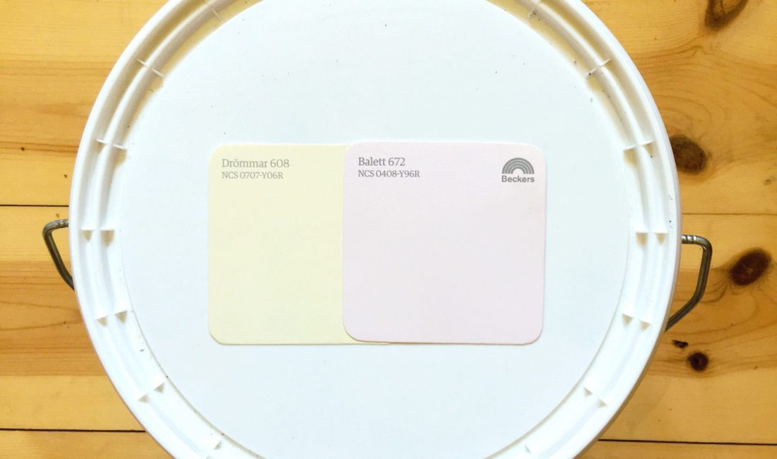 Paint swatches for our office/closet/guest room - Log Cabin Lady