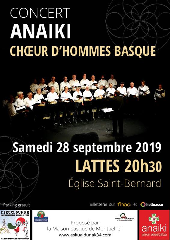 Concert du chœur d'hommes basque Anaiki