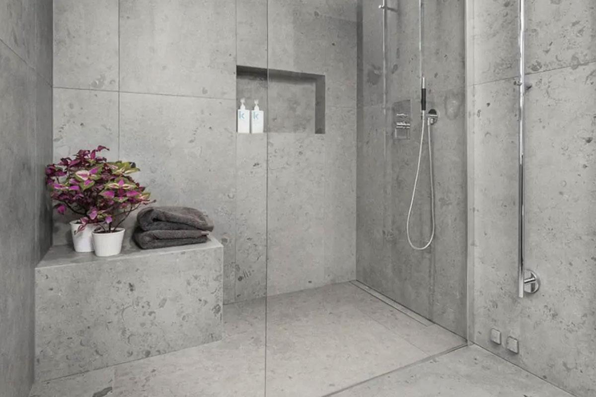 golv sten badrum