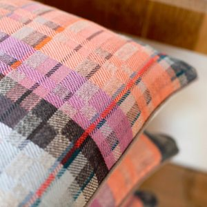 Pastel coloured handwoven cushions