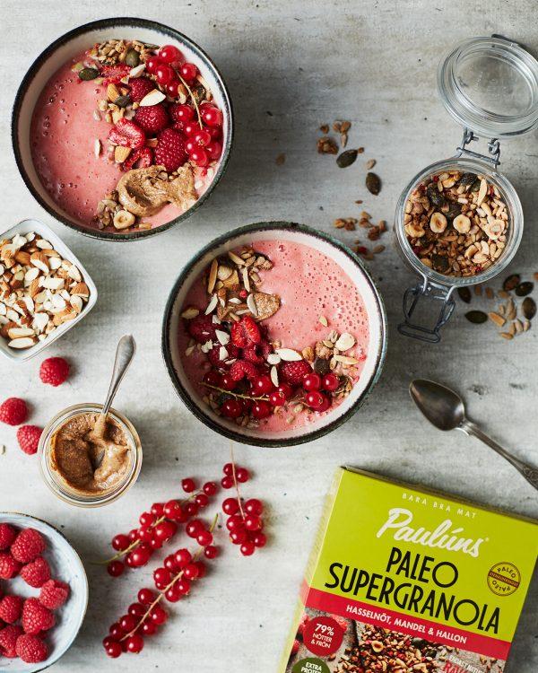 Hallon smoothie bowl Pauluns