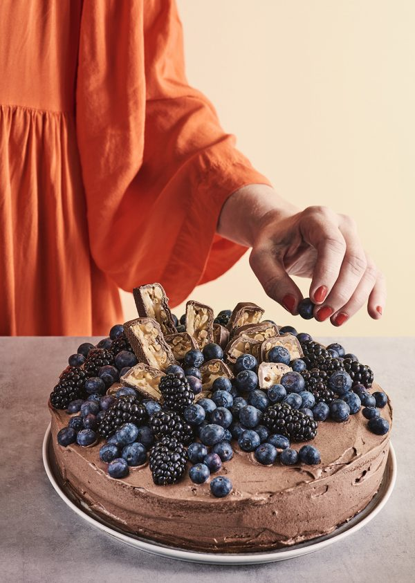 IKEA Belöning Chokladtårta med blåa bär