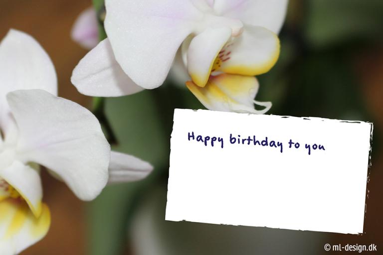 fødselsdagskort med blomster