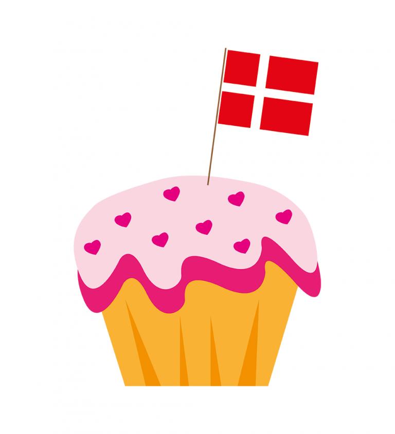 Cupcake med flag