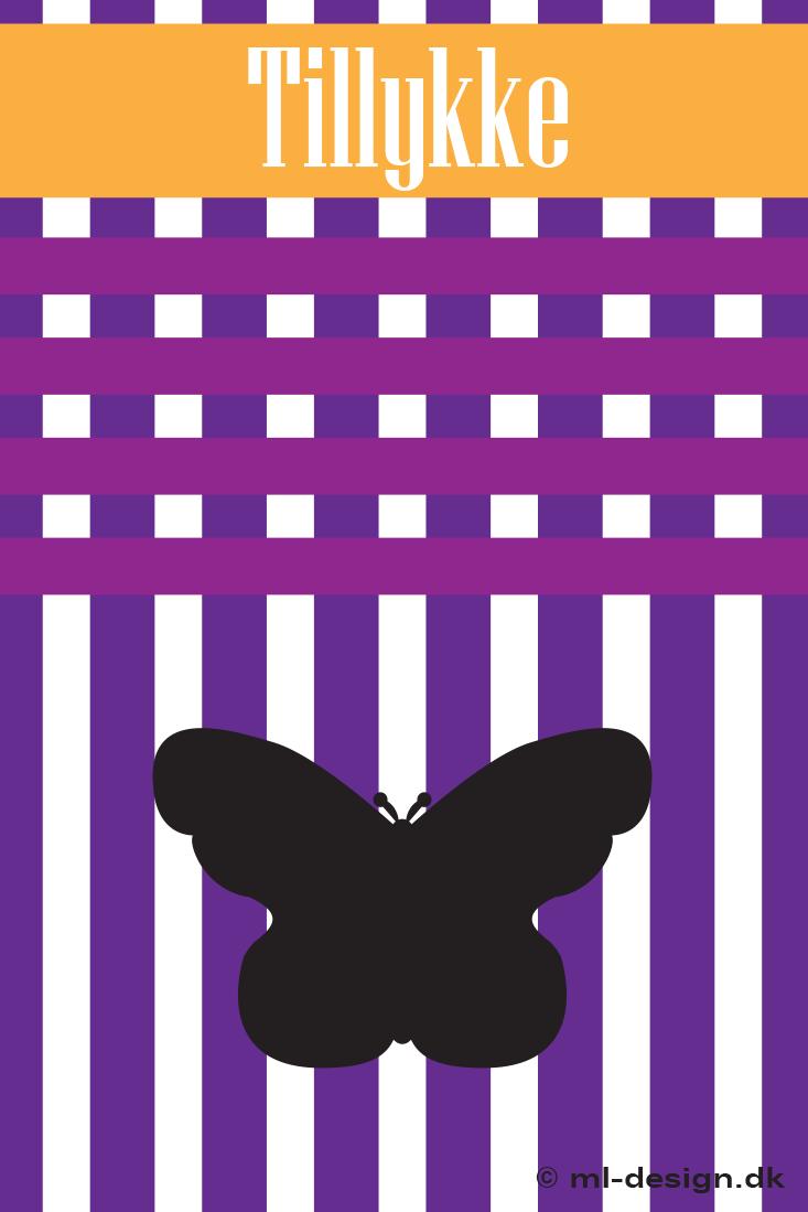 Fødselsdagskort med sommerfugl