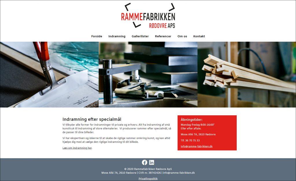 webdesign ramme-fabrikken.dk