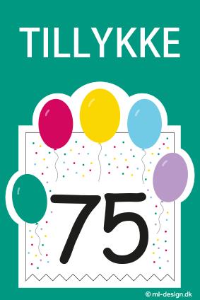 Fødselsdagkort med balloner