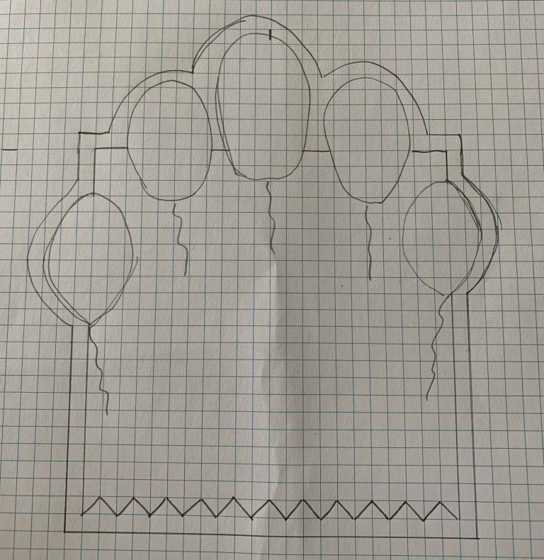 Skitse - kort med balloner