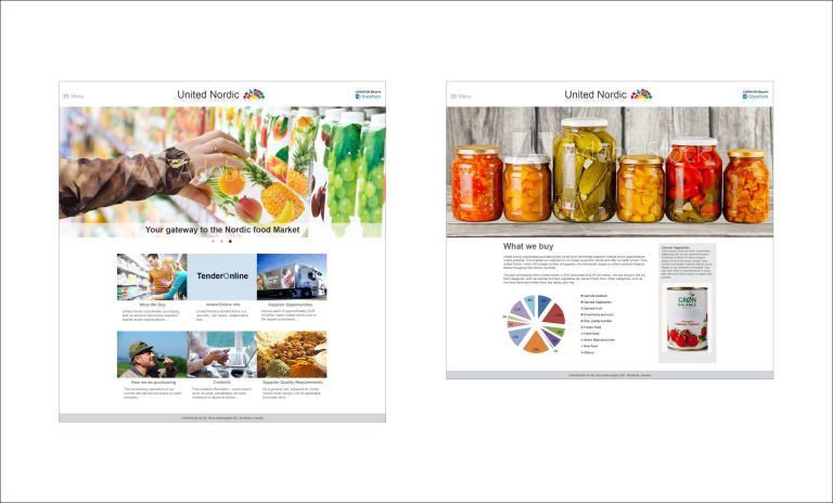 United Nordic webdesign