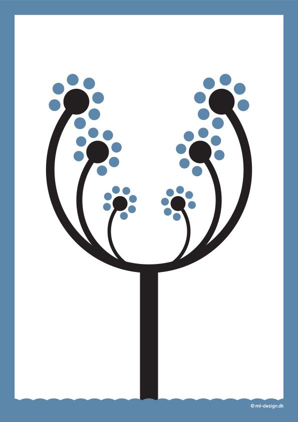 illustration blomstertræ