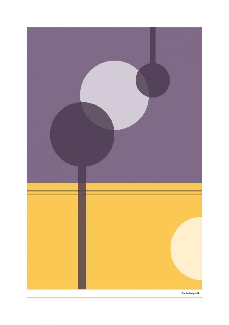 A3 plakat - lilla og gul