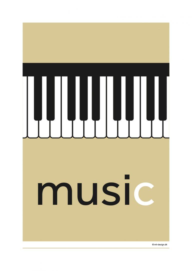 A3 plakat - music piano