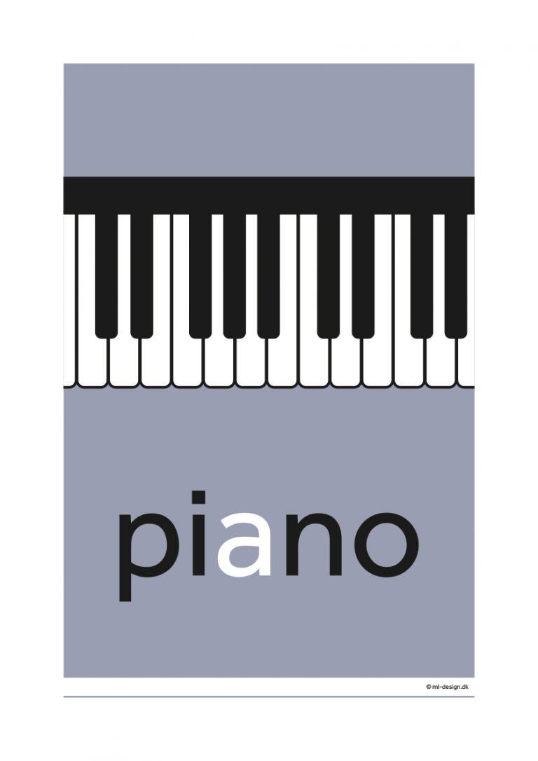 A3 plakat - piano