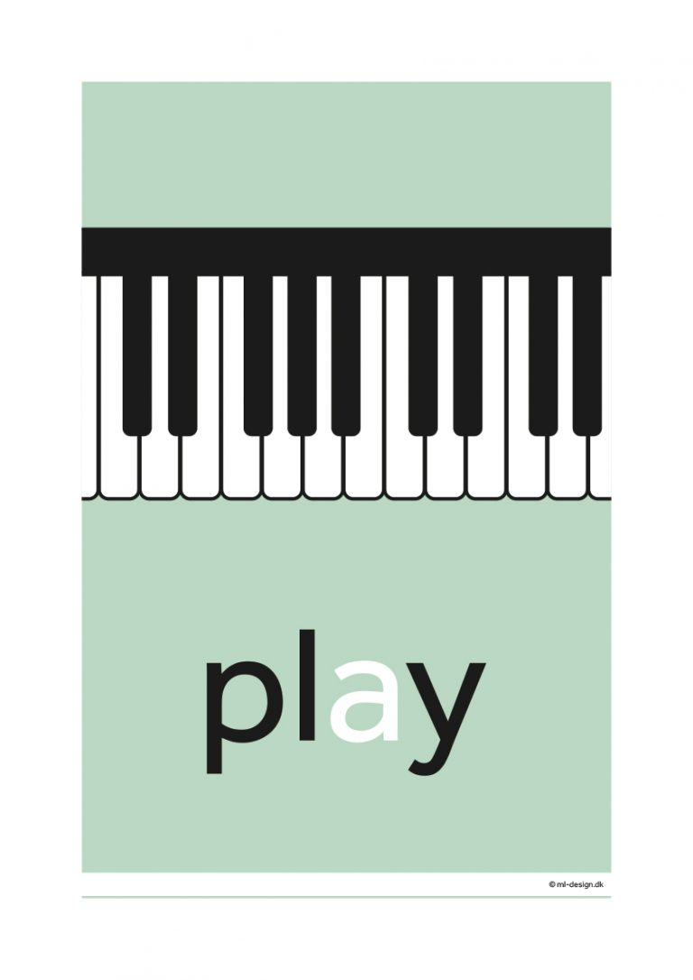 A3 plakat - play piano