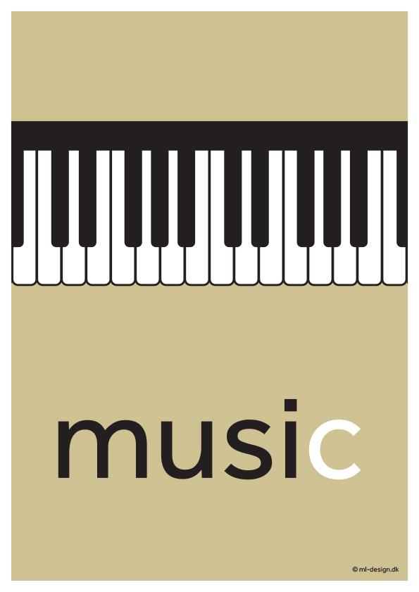 Illustration med piano