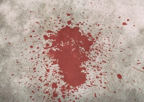 Shower of blood