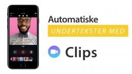 lette automatiske undertekster til video clips app