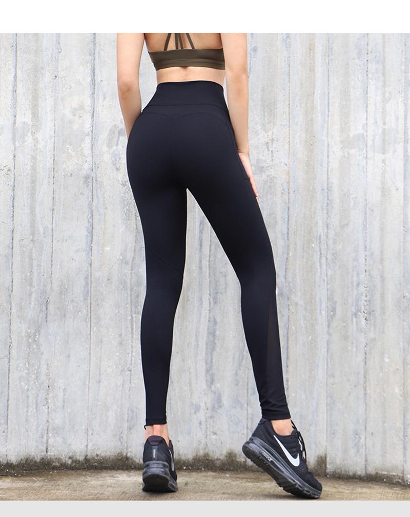 black high waist butt lift pants with pocket