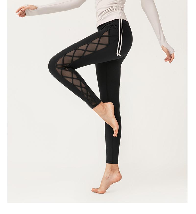black mesh squat proof leggings 1