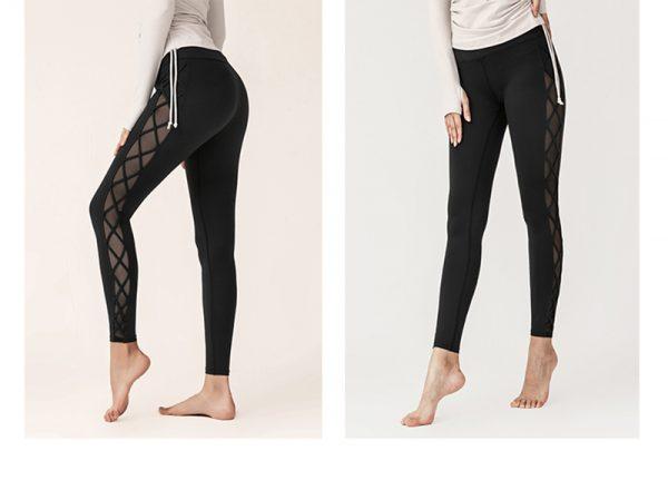 black mesh squat proof leggings 2