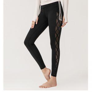 black mesh squat proof leggings