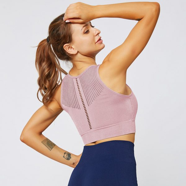 fitted running top purple 2